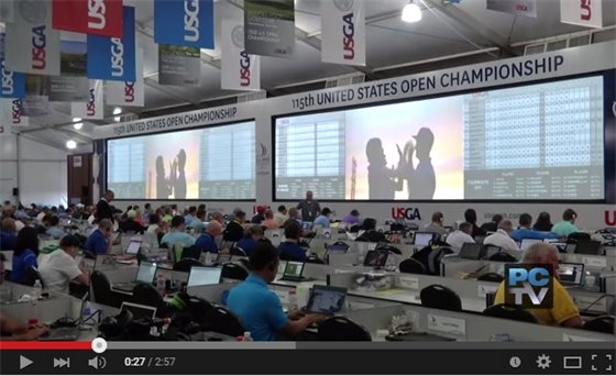 Behind the scenes in the media center at the U.S. Open