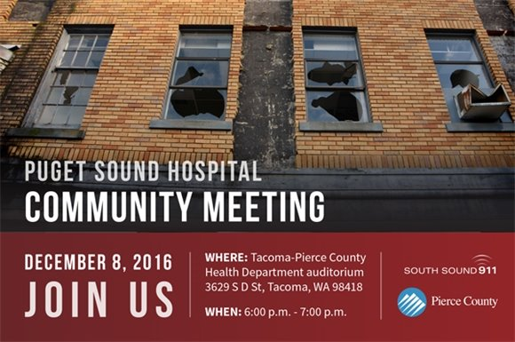 Puget Sound Hospital community meeting