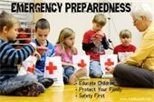 Youth doing preparedness activities with an adult
