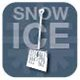 Snow shovel and words snow and ice