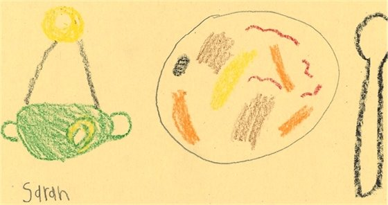 Compost drawing by a student