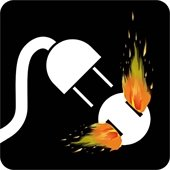 Electrical Fire Icon