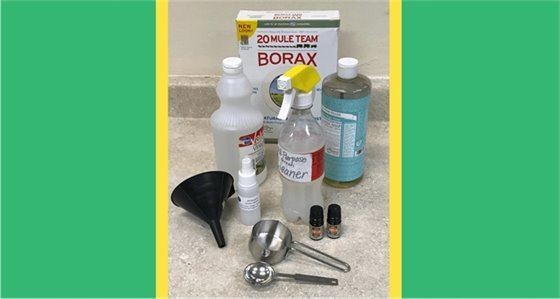 photo of green cleaning supplies