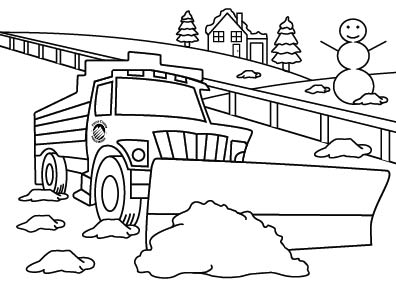 Snowplow Coloring Page