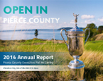 2014 Annual Report Cover with US Open Trophy