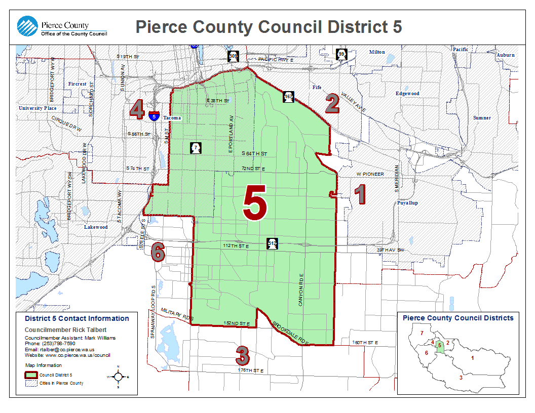 Council District Maps Pierce County WA Official Website - Maps on us website