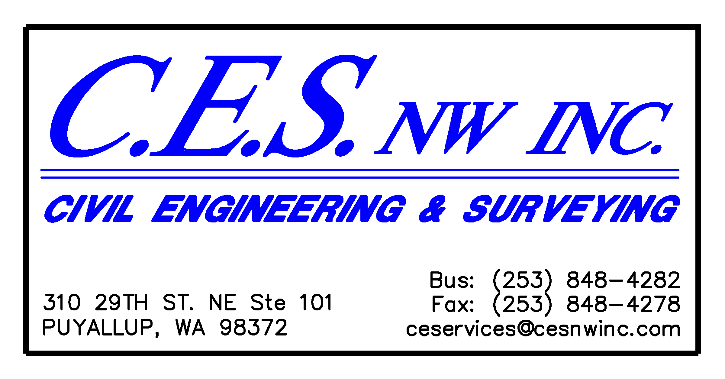 C.E.S. NW Inc. Civil Engineering and Surveying Logo