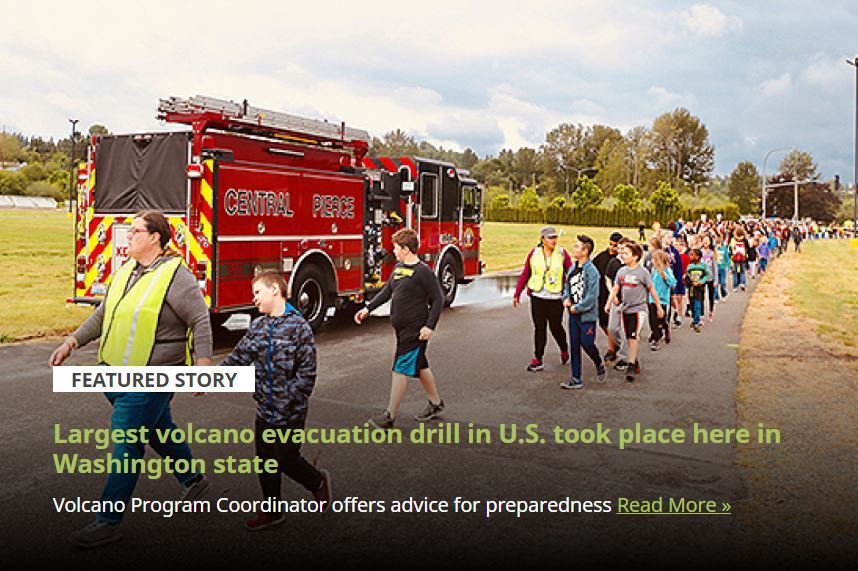 Largest volcano evacuation drill in U.S. took place here in Washington state