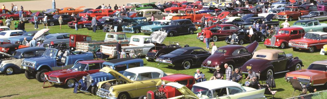 image of cars and truck at Sprinker's Classic Car Show