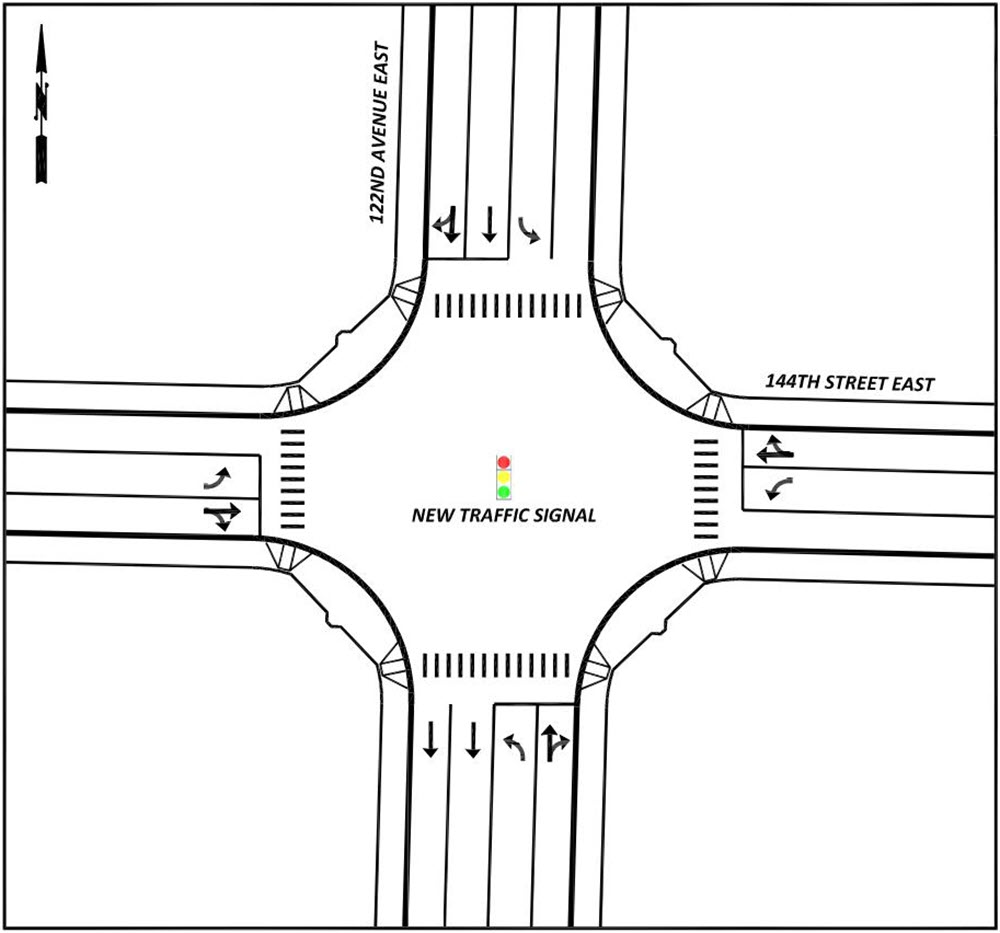 Image of the proposed project intersection.