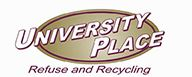 image of University Place Refuse and Recycling Logo Opens in new window