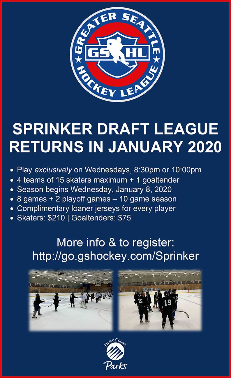 image of Sprinker Recreation Center Hockey Draft League - Rink Flyer Opens in new window