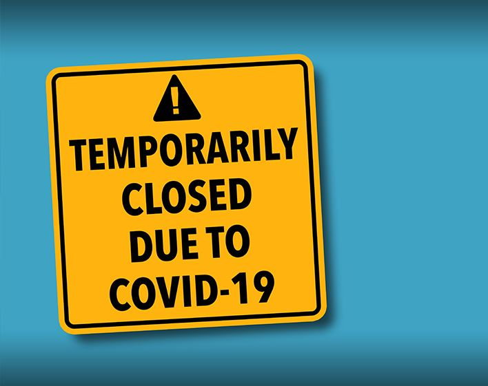 Business Temporarily Closed due to COVID-19 Sign