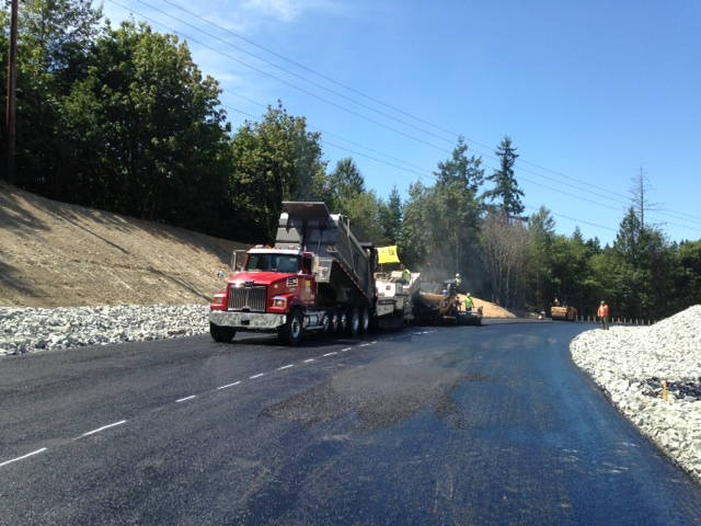 Paving the Second Lift of Asphalt