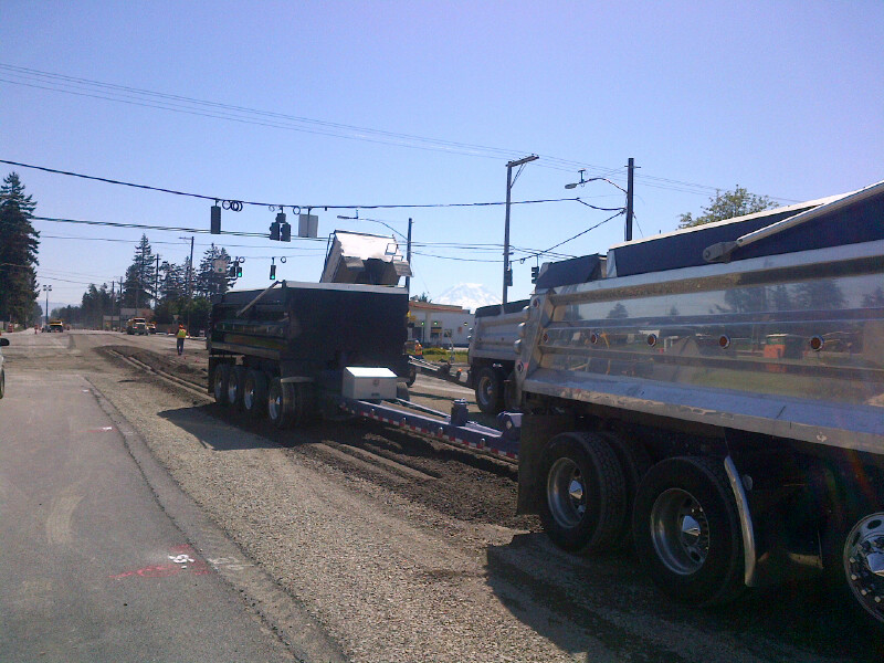 176th & 22nd Intersection: Placing Crushed Rock