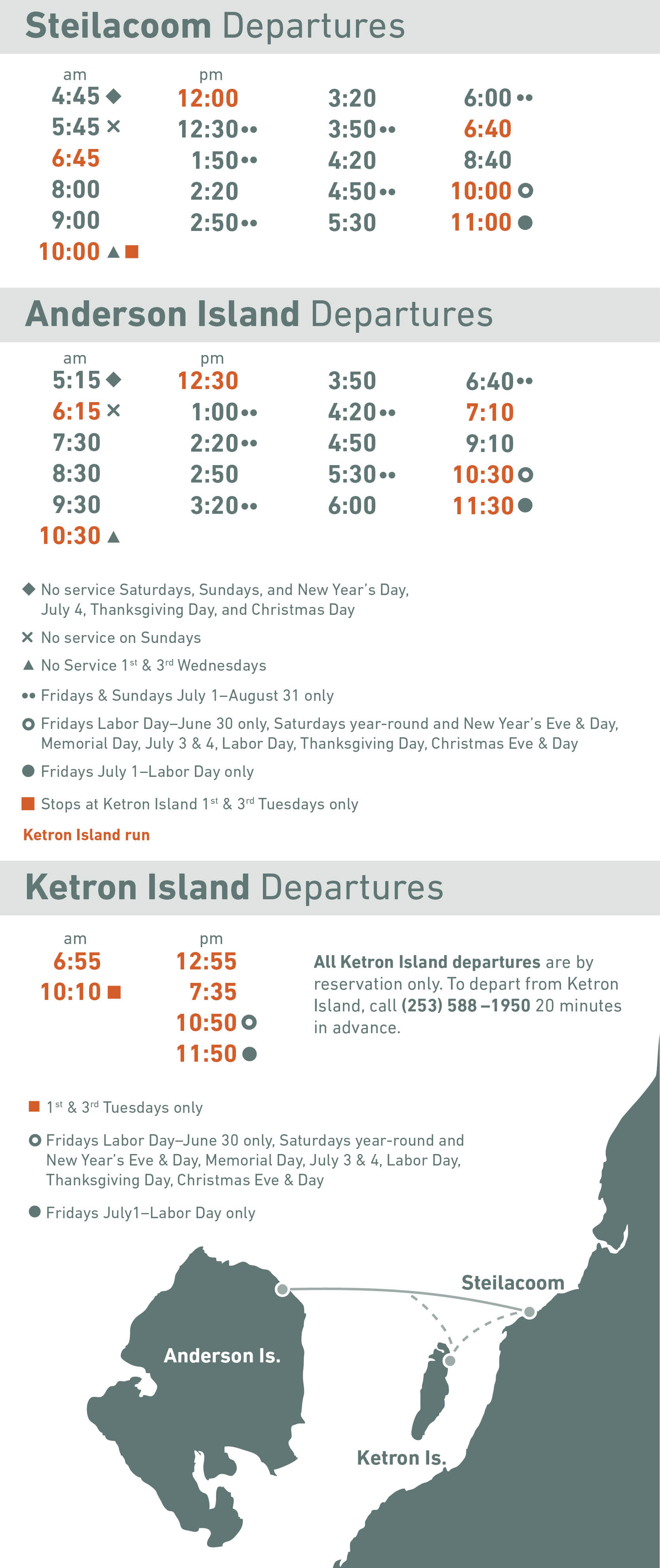 image of ferry schedule